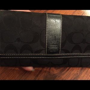 Coach Bags - COACH Signature Tri-Fold Check Book Wallet